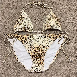 Victoria's Secret Leopard Print Bikini LRG